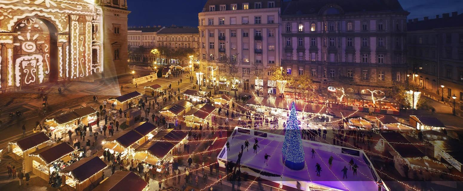 Megnyílt a Vörösmarty téri karácsonyi vásár Budapesten
