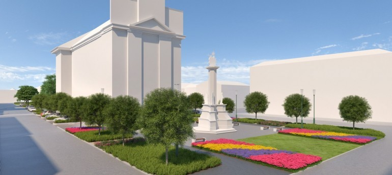 A nyári esküvői szezonra megszépül a ceglédi Szentháromság park