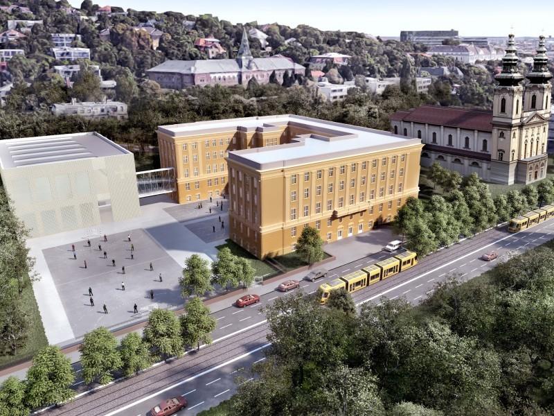 3500 négyzetméteres sportcsarnokkal bővül egy újbudai gimnázium