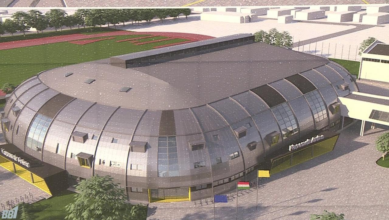 Hatmilliárdból épül fel Kaposvár új sportcsarnoka