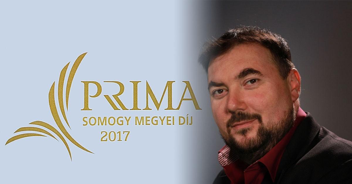 Sarkadi Kiss János a Somogy Megyei Prima jelöltek között