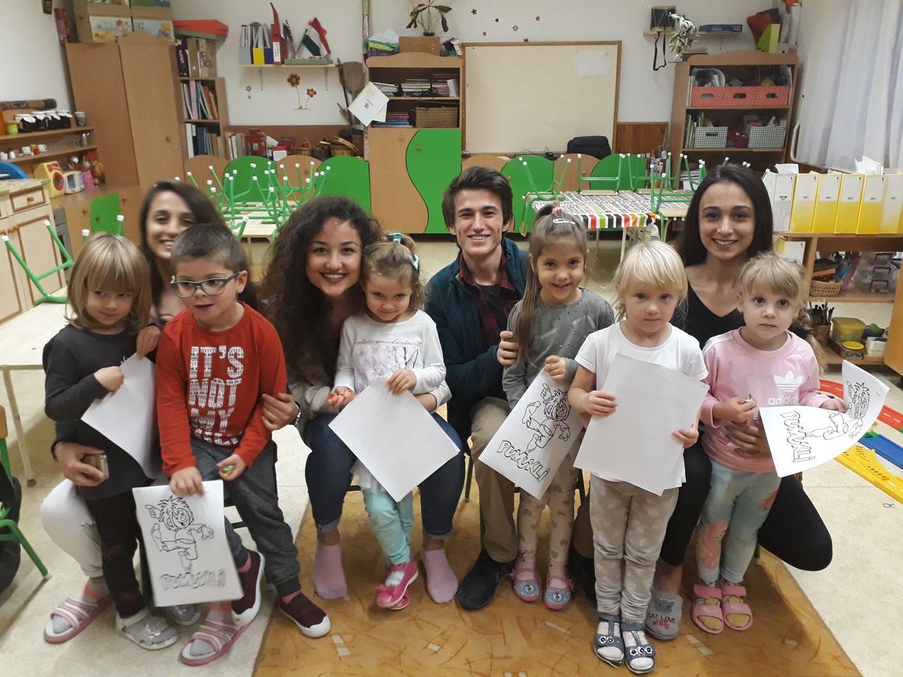 Erasmus hallgatók a kaposvári Gyakorló Óvodánkban