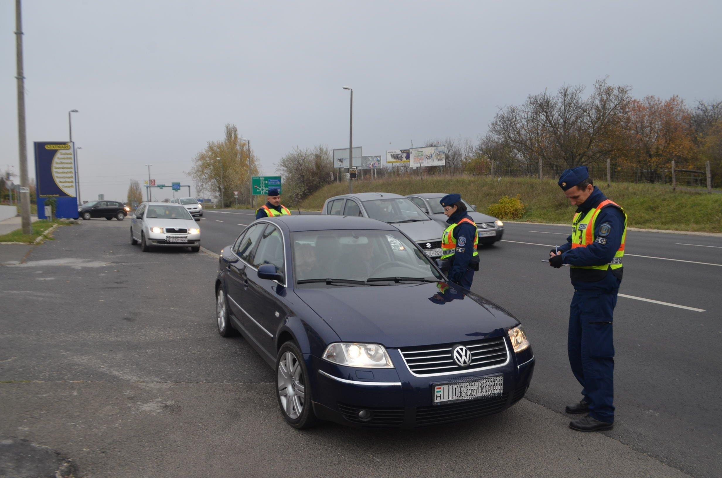 Közúti ellenőrzéseket hajtottak végre Siófokon