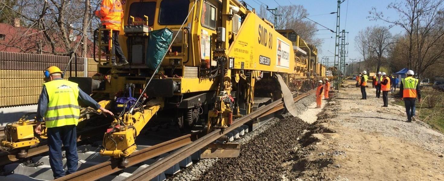 Vágányzár! Robog a több mint 72 milliárdos vasútfelújítás