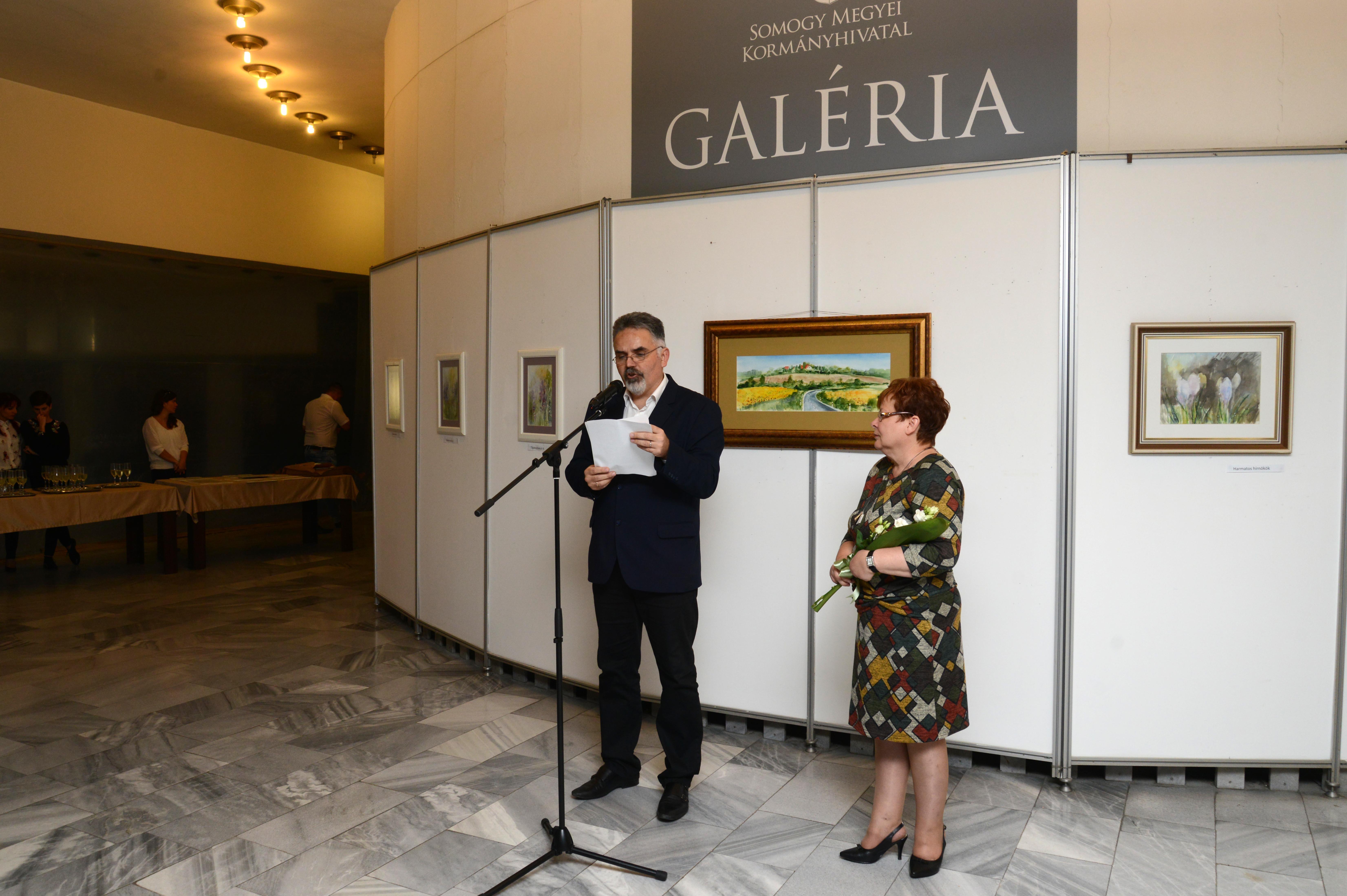 """""""Tájköltészet Akvarellel"""" kiállítás a Somogy Megyei Kormányhivatalban"""