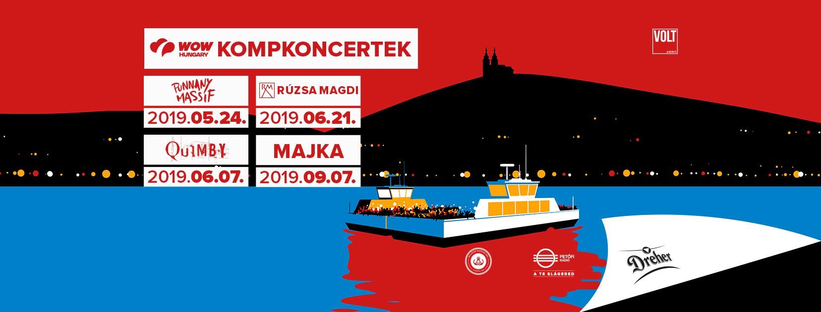Nagyon Balaton: jövőre négy kompkoncert lesz a tó közepén