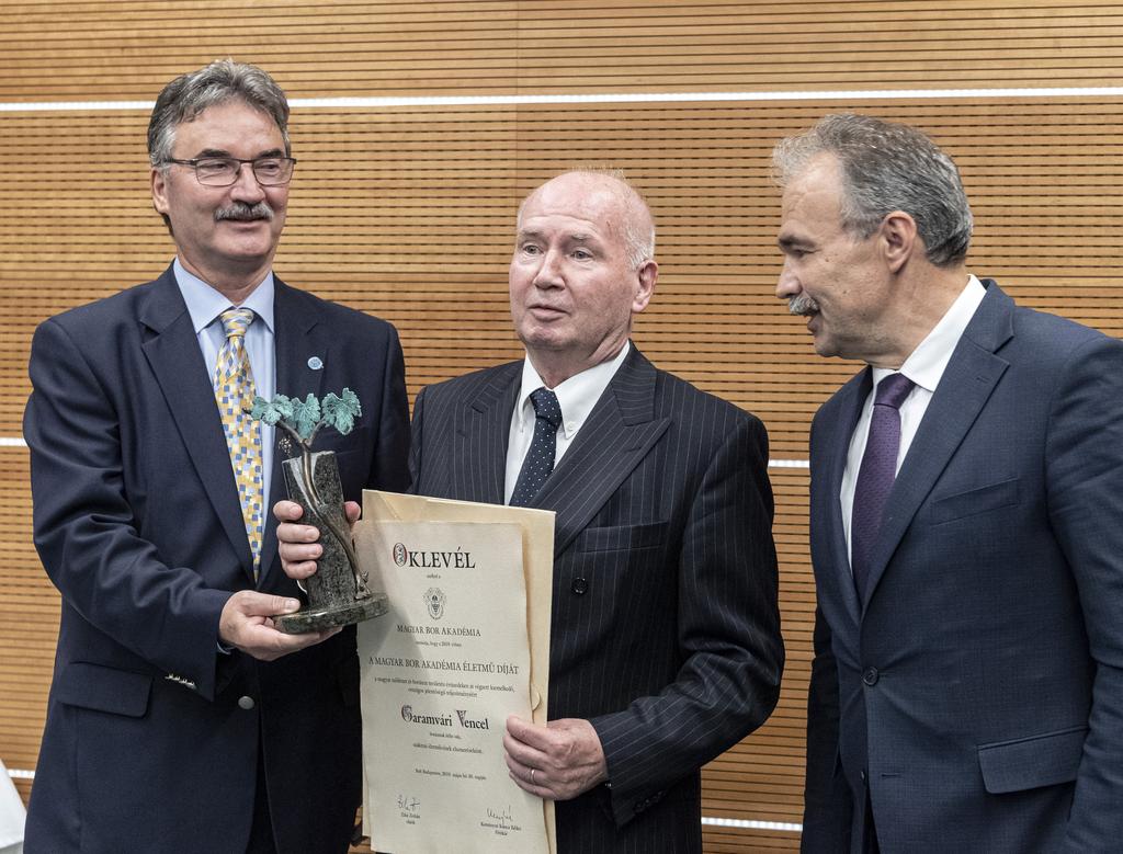 Balatonboglári borász vehette át Az év bortermelője életműdíjat