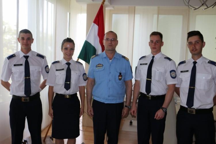 Pályakezdő rendőrtisztek Somogyban
