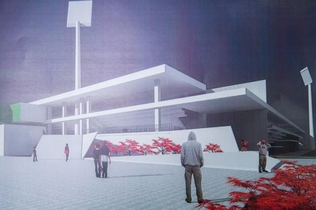Megkezdődött a paksi stadion építése
