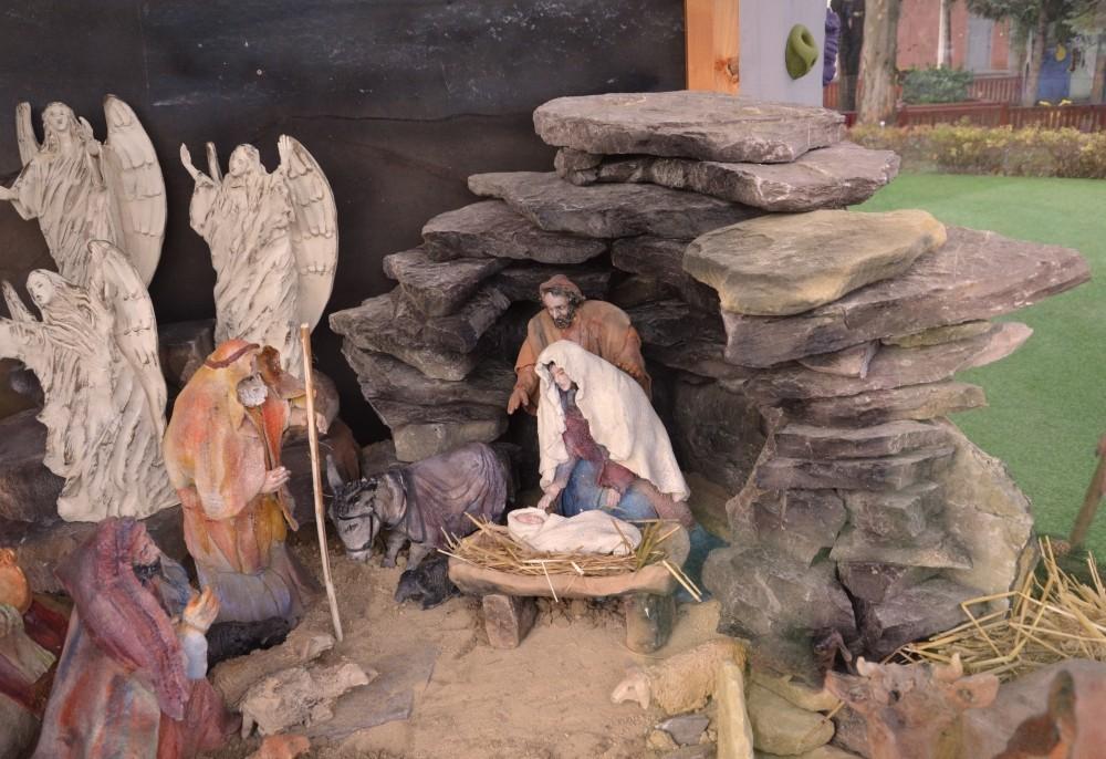 Egyedülálló betlehemi kompozíciót állítottak fel Dombóváron