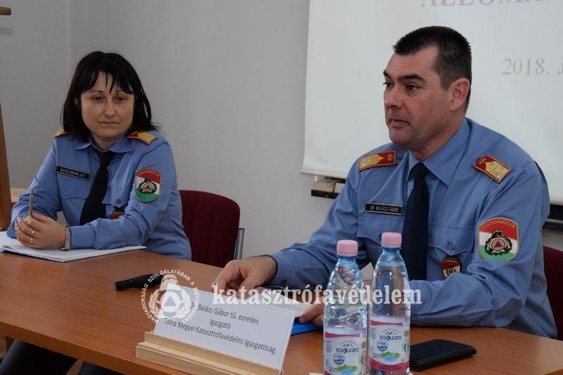Az elmúlt fél év munkáját értékelte aTolna Megyei Katasztrófavédelmi igazgató