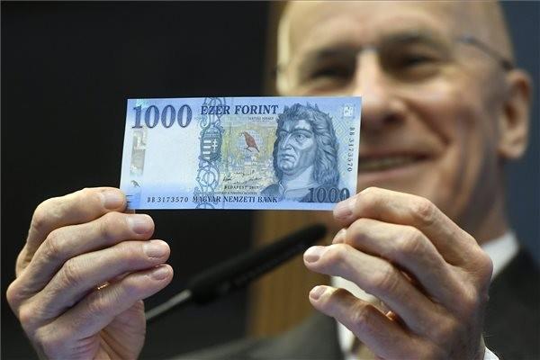 Csütörtöktől vezetik be az új ezer forintos bankjegyet
