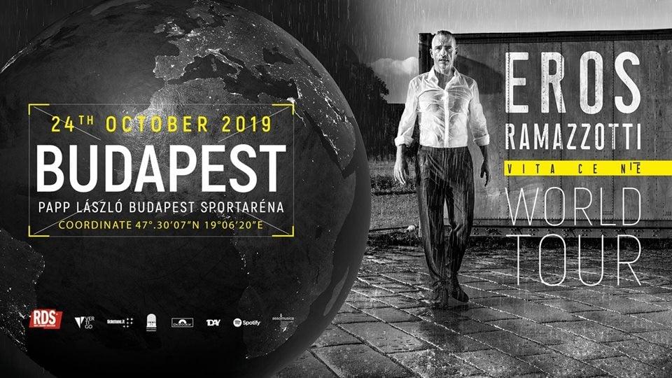 Eros Ramazzotti jövő ősszel újra Budapesten ad koncertet