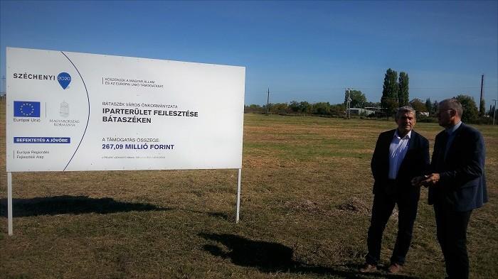 267 millió forintot nyert Bátaszék az ipari park létrehozására