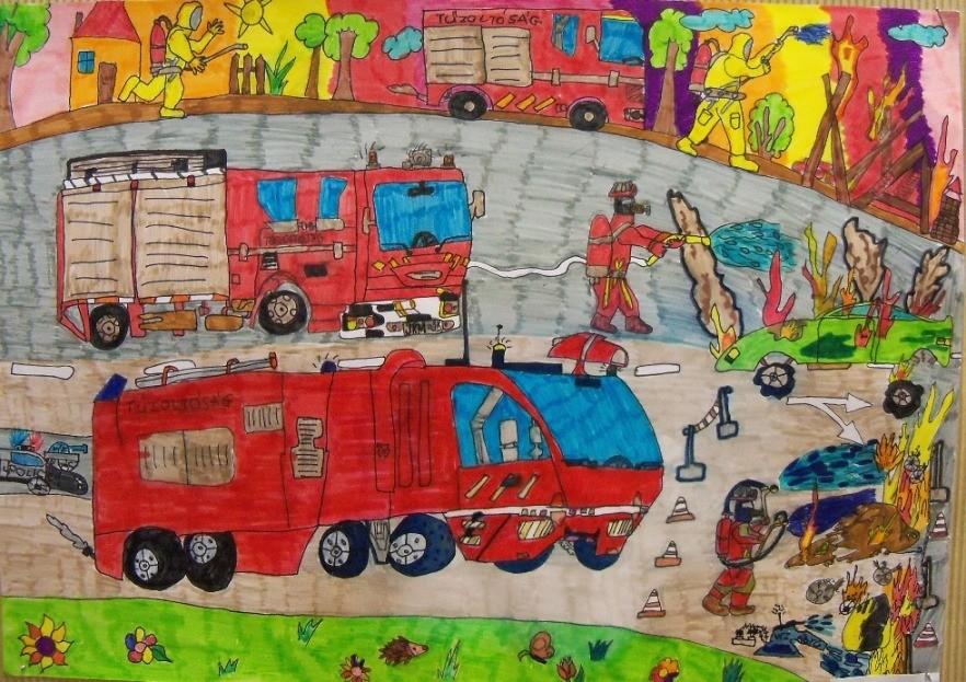 Ne égess! – gyerekeknek hirdetett rajzpályázatot a katasztrófavédelem